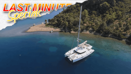 last minute yacht charter deals can save you over 50% on bareboat and all-inclusive charters