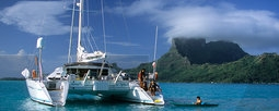 private catamaran charter in tahiti