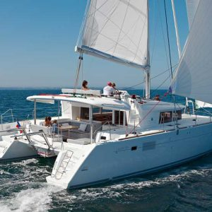 bareboat charters are offered on the Lagoon 450 catamaran in BVI and other worldwide locations