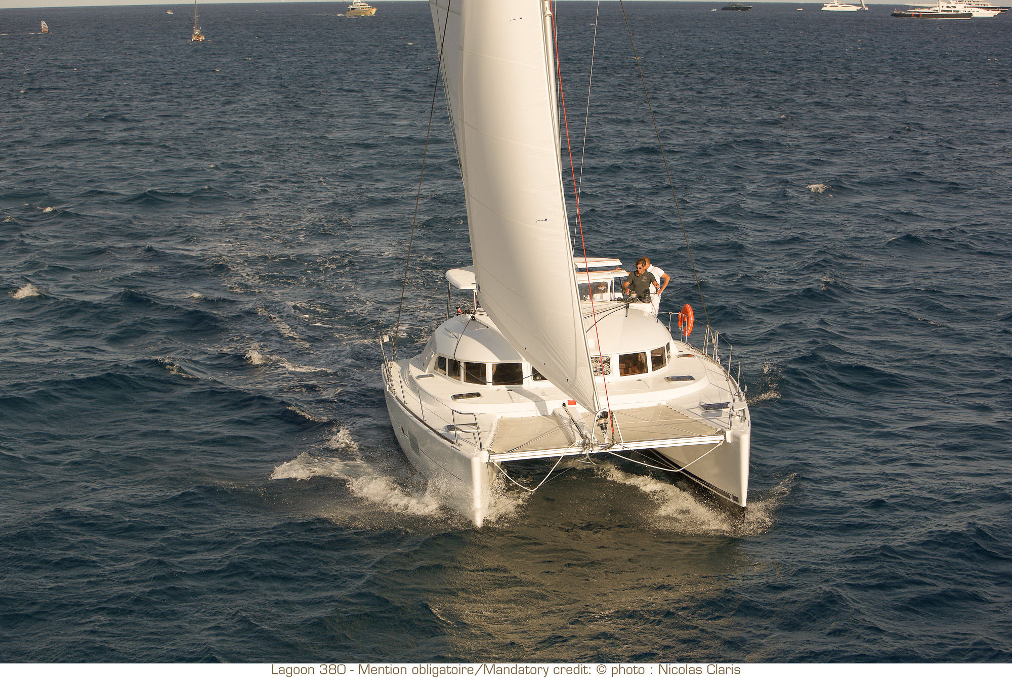 lagoon 380 bareboat catamaran charters available with captain, chef, or provisioning