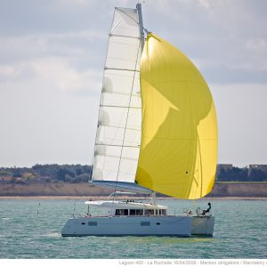 lagoon 400 catamaran for bareboat charter or with captain, chef or provisioning