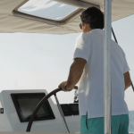 fountaine pajot ipanema 58 helm with captain