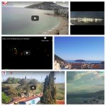 A collage of Mediterranean webcam images