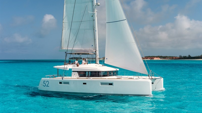 The Lagoon 52 is one of our most popular charters, whether it be bareboat or crewed.