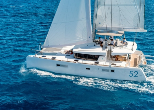 both bareboat and crewed charters are offered on the Lagoon 52 catamaran in BVI and other worldwide locations