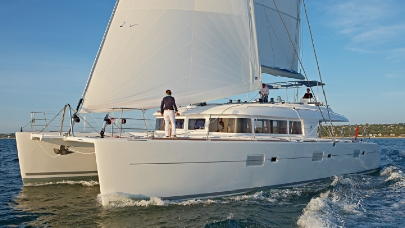 crewed caribbean yacht charters are offered on the Lagoon 620 catamaran
